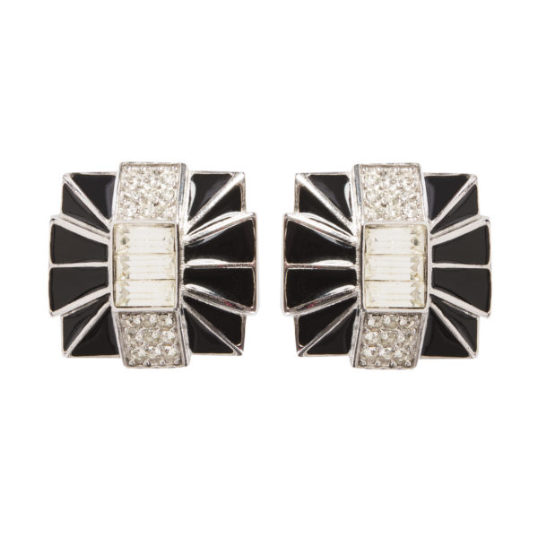 Vintage Audrey Hepburn Art Deco styled earrings