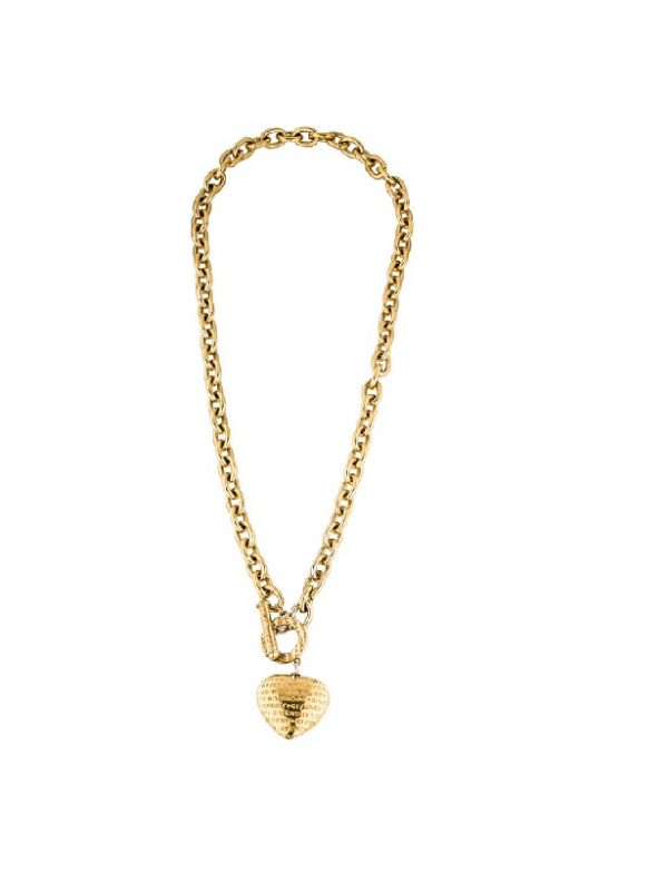 Vintage oversized heart pendant Givenchy