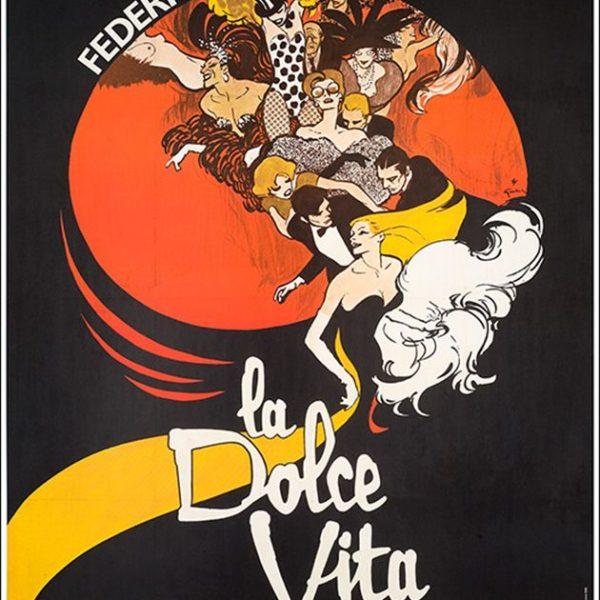 Gruau's poster for Federico Fellini's La Dolce VitaDolce Vita - Rene