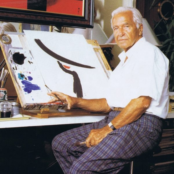 René Gruau in his atelier