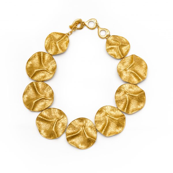 Vintage gold medallions necklace