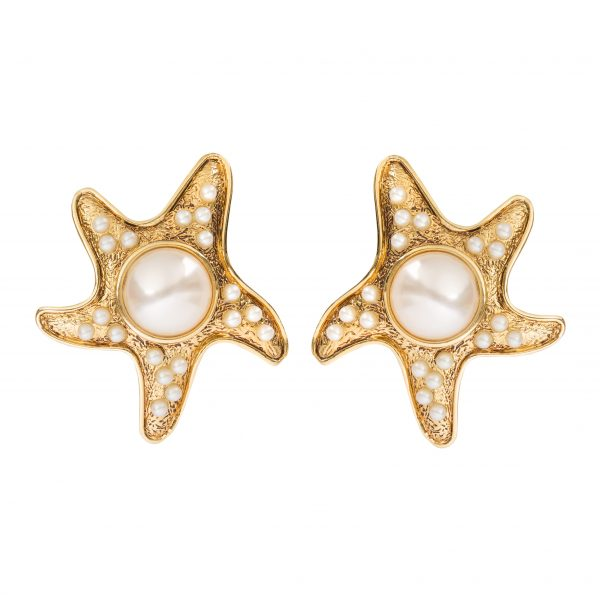 Vintage starfish pearl detail earrings