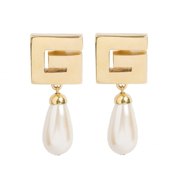 Vintage G pearl drop earrings