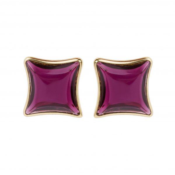 Vintage purple stone diamond earrings