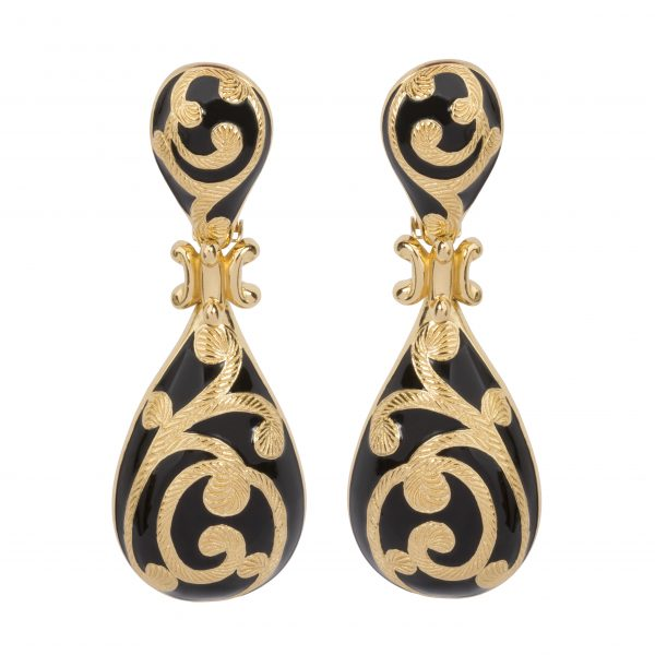 Vintage baroque gold swirls earrings