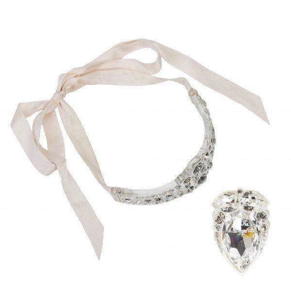 Vintage haute couture lucite ring set