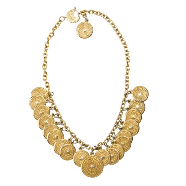 Vintage mini coin gold necklace