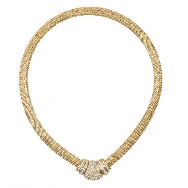 4element - Christian Dior - Vintage front closure snake necklace