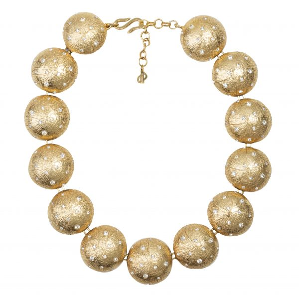 Vintage gold spheres necklace