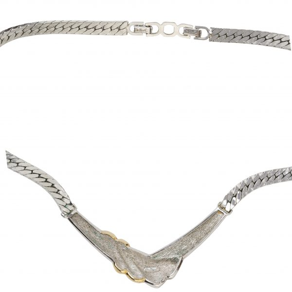 4element - Christian Dior - Vintage gold ribbon detail necklace