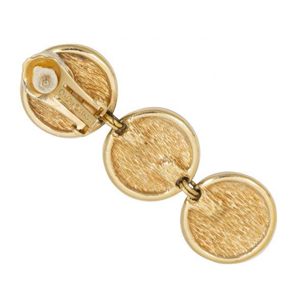 4element - Christian Dior - Vintage logo black rope earrings