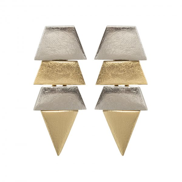Vintage silver and gold arrow earrings