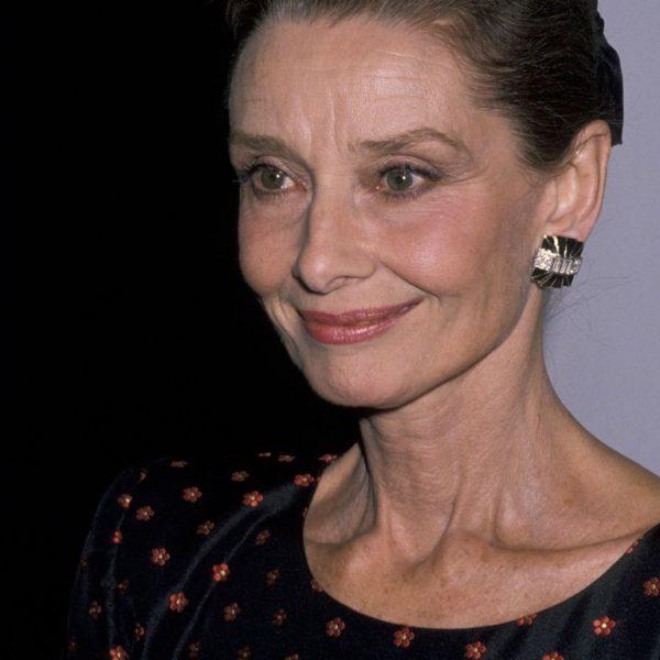 Audrey Hepburn - Givenchy black earrings