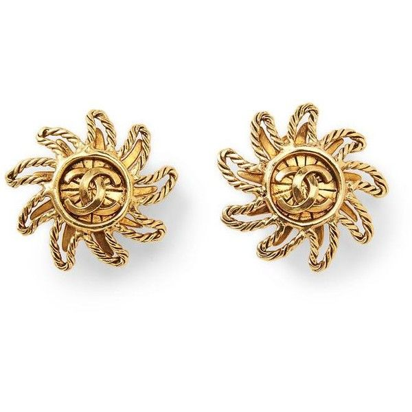 Vintage sun motif earrings