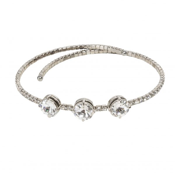 Crystal clear snake necklace