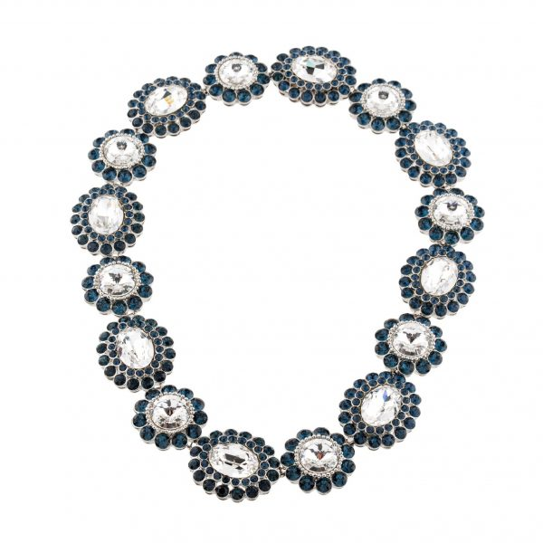 Blue crystal stone necklace
