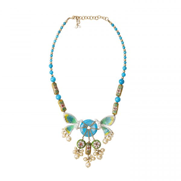 Vintage haute couture butterfly necklace