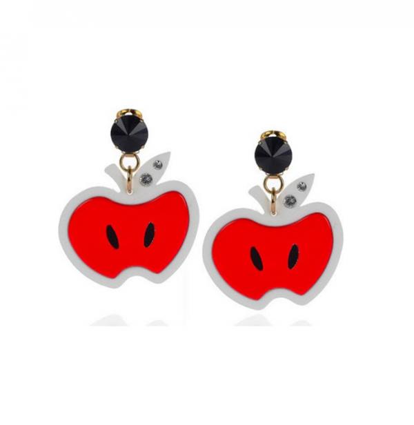Red apple plexiglass earrings
