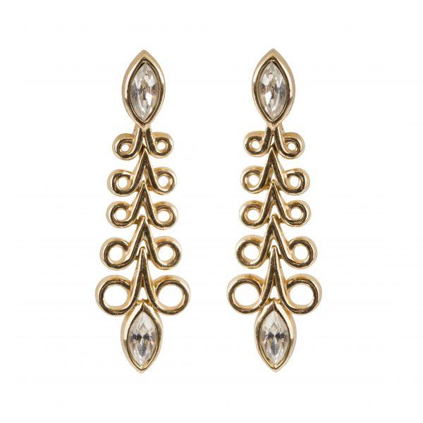 Vintage gold rope large earrings