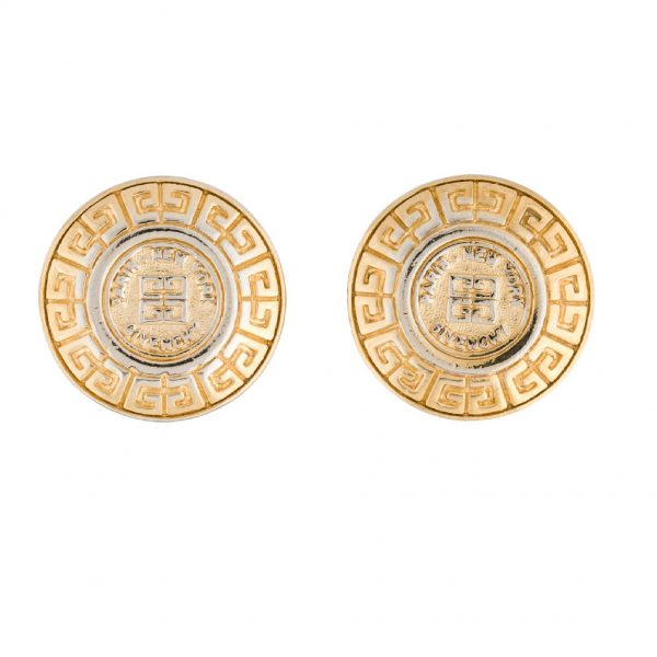 Vintage logo embellished earrings